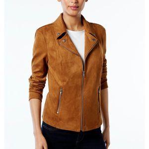 Style & Co Moto Jacket Saddle PM New